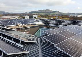 Hochmoderne Photovoltaik Installation in Niederanven