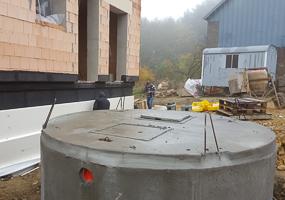 Regenwasser-Anlage in Rambrouch, Luxemburg