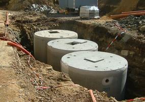 Regenwasser-Anlage mit 30 000 L Speichervolumen