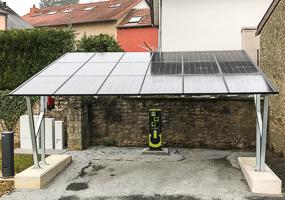 Solar-Carport in Schouweiler, Luxemburg