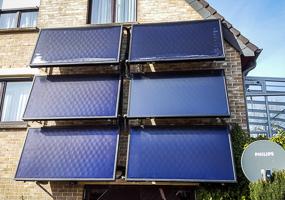 Solarthermie Kollektoren mit Fassadenmontage, in Luxemburg